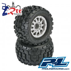 "Ruedas Proline 3.8"" Monster 1/8 Badlands MX38 17mm..."