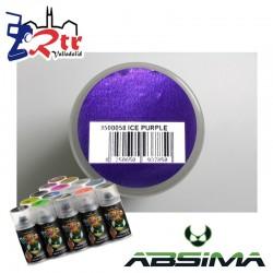 Pintura Absima Lexan Hielo Purpura con aditivo anti Nitro 150Ml