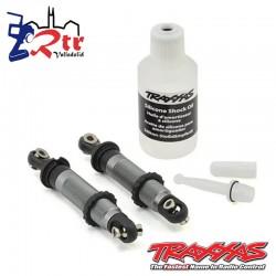 Amortiguadores Traxxas GTS Aluminio Gris Cortos TRX-4...