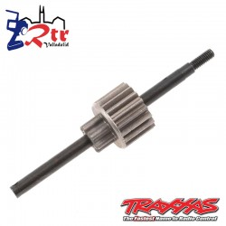 Conjunto de eje de entrada / engranaje impulsor (engranaje superior de acero de 18 dientes) TRA3992