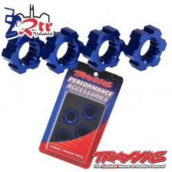 Tuercas Hexagonales azules 4 Und tra7756X
