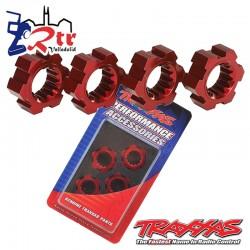 Tuercas Traxxas Hexagonales Rojos 4 Und tra7756R