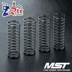 Amortiguador de muelle MST 45mm Color Plata (4 piezas) MST210529