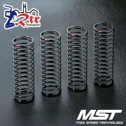 Amortiguador de muelle MST 45mm Rojo (4 piezas) MST210531