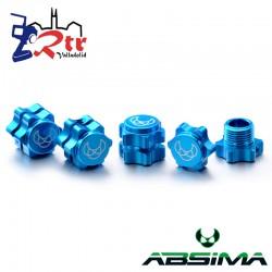 Hexágonos 4 unidades Aluminio 17mm