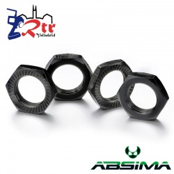 Tuercas para Hexágonos 4 unidades Aluminio 17mm Negros