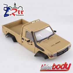 Killerbody Toyota Land Cruiser 70 1/10 Para TRX-4 Marron 323MM Carcasa dura