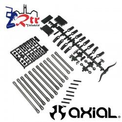 SCX10 II Conjunto de enlaces traseros (80 mm, 94 mm, 101,5 mm) (aluminio) AX31466