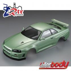 Carrocería Nissan Skyline R34 1/10 Pintada 195mm Verde