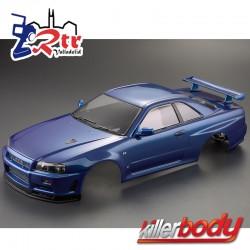 Carrocería Nissan Skyline R34 1/10 Pintada 195mm Azul