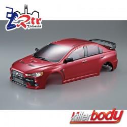 Carrocería Mitsubishi Lancer Evo X 1/10 Pintada 190mm Roja
