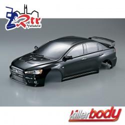 Carrocería Mitsubishi Lancer Evo X 1/10 Pintada 190mm Negra