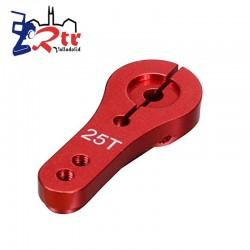 Servo Horm 25t Rojo Aluminio