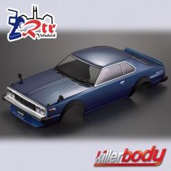 Carrocería Nissan Skyline Hardtop 2000 (1977) 1/10 Pintada 195mm Azul