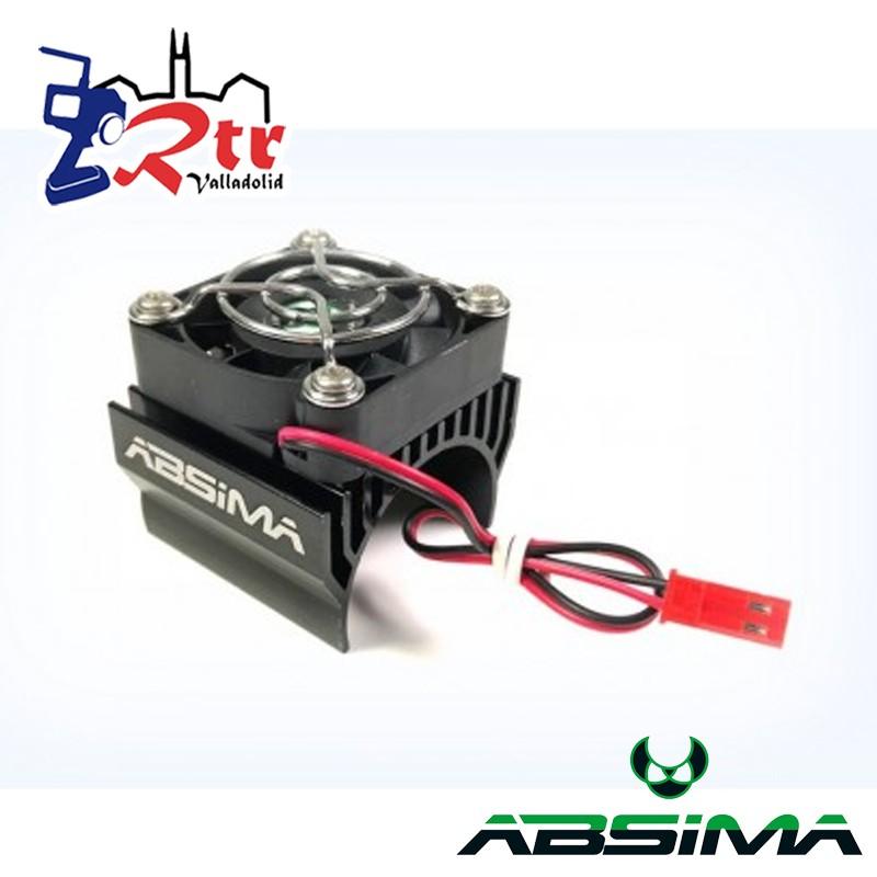 Disipador con ventilador para motor 1/8 eléctrico Negro 40mm