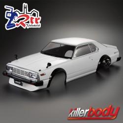 Carrocería (1980) Skyline Hardtop 2000 Turbo GT-ES 1/10 Pintada 195mm Blanca