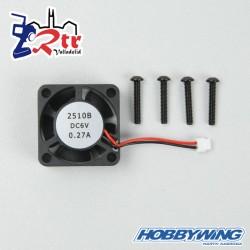 Ventilador Hobbywing Fan 25x25x10, 18000rpm@6V Rodamientos