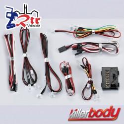 KillerBody Juego de luces LED con 18 LED Caja controladora