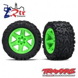 Ruedas Traxxas Rustler 4x4 Verdes (2 Unidades) TRA6773G