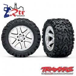 Ruedas Traxxas Rustler 4x4 Cromo Mate (2 Unidades) TRA6773R