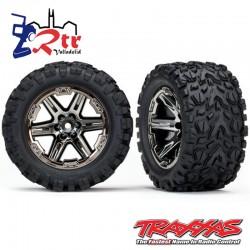 Ruedas Traxxas Rustler 4x4 Cromo Oscuro TRA6773X