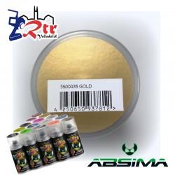 Pintura Absima Lexan Dorado  con aditivo anti Nitro 150Ml