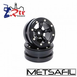 Llantas 1.9 beadlock Metsafil PT-Safari Negro/Negro (2 Unidades)