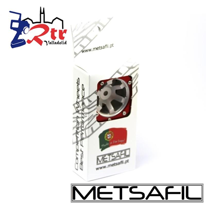 Llantas 1.9 aluminio Crawler beadlock Metsafil Plata/Rojo (2 Unidades)