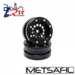 Llantas 1.9  beadlock Metsafil PT-Bullet Negro/Negro (2 Unidades)