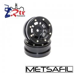 Llantas 1.9 beadlock Metsafil PT-Distractor Negro/Negro (2 Unidades)