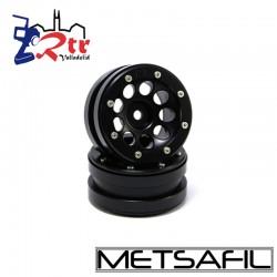 Llantas 1.9  beadlock Metsafil PT-Ecohole Negro/Negro (2 Unidades)