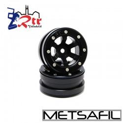 Llantas 1.9 beadlock Metsafil PT- Claw Negro/Negro (2 Unidades)