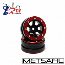 Llantas 1.9 beadlock Metsafil PT- Claw Negro/Rojo (2 Unidades)