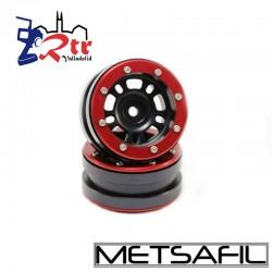 Llantas 1.9 beadlock Metsafil PT-Distractor Negro/Rojo (2 Unidades)