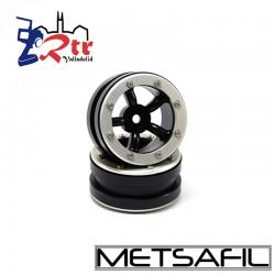 Llantas 1.9 beadlock Metsafil PT-Safari Negro/Plata (2 Unidades)