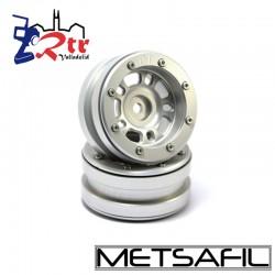 Llantas 1.9 beadlock Metsafil PT-Distractor Plata/Plata (2 Unidades)