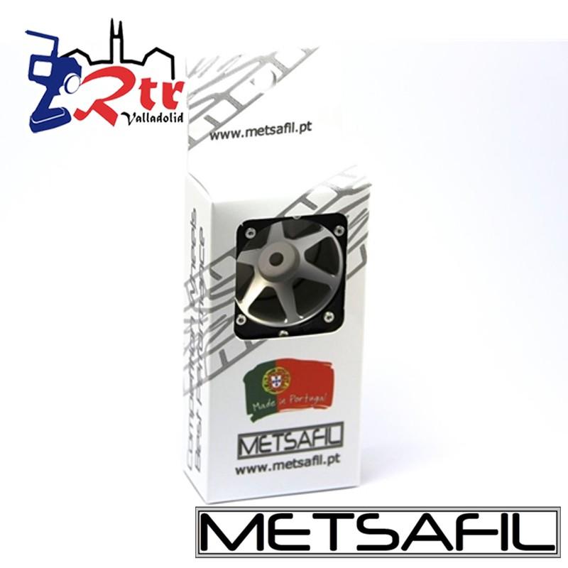 Llantas 1.9 aluminio Crawler beadlock Metsafil Plata/Negro (2 Unidades)