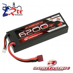 Lipo Robitronic 2s 6200 Mha 40C Caja dura HardBox T-Deam