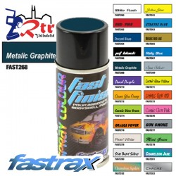Pintura Fastrax Lexan Grafito Cromado con aditivo anti Nitro 150Ml