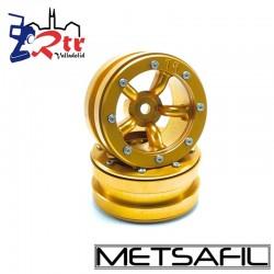 Llantas 1.9 beadlock Metsafil PT-Safari Oro/Oro (2 Unidades)