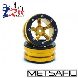 Llantas 1.9 beadlock Metsafil PT-Safari Oro/Negro (2 Unidades)