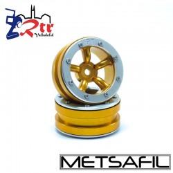 Llantas 1.9 beadlock Metsafil PT-Safari Oro/Plata (2 Unidades)