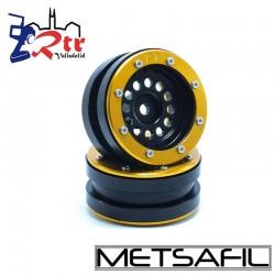 Llantas 1.9 beadlock Metsafil PT-Bullet Negro/Oro (2 Unidades)