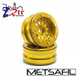Llantas 1.9 beadlock Metsafil PT-Bullet Oro/Oro (2 Unidades)