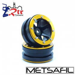 Llantas 1.9 beadlock Metsafil PT-Slingshot Negro/Oro (2 Unidades)
