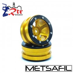 Llantas 1.9 beadlock Metsafil PT-Slingshot Oro/Negro (2 Unidades)