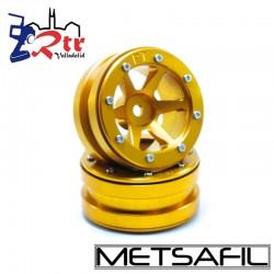 Llantas 1.9 beadlock Metsafil PT-Slingshot Oro/Oro (2 Unidades)