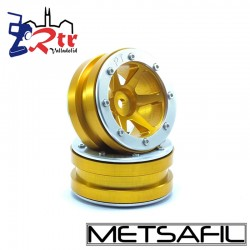 Llantas 1.9 beadlock Metsafil PT-Slingshot Oro/Silver (2 Unidades)