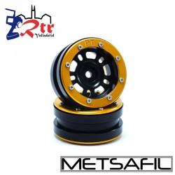 Llantas 1.9 beadlock Metsafil PT-Distractor Negro/Oro (2 Unidades)