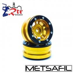 Llantas 1.9 beadlock Metsafil PT-Distractor Oro/Negro (2 Unidades)